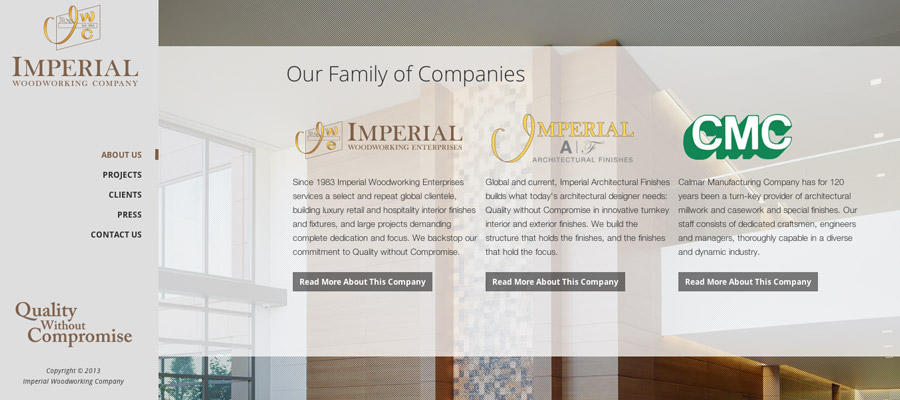 Imperial Woodworking Website